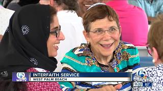 Interfaith service brings people together in West Palm Beach - Video