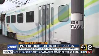 MTA partially shutting down light rail July 25 - Video