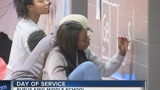 MLK Day of Service at Rufus King Middle School - Video