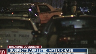 Two suspects in custody after overnight chase - Video