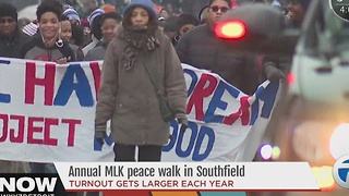 Annual MLK day walk in Southfield - Video