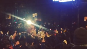 Protests in Seattle after Ferguson verdict - Video