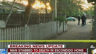 Man stabbed to death in Escondido home - Video
