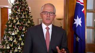 Turnbull Sends Christmas Message to Defence Forces - Video