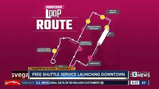 Free shuttle service kicks off in Downtown Las Vegas - Video