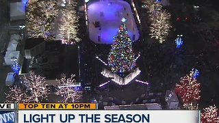 Detroit lights up for the season - Video