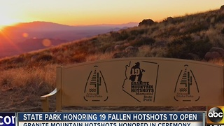 Parck honoring 19 fallen Granite Mountain hotshots set to open - Video