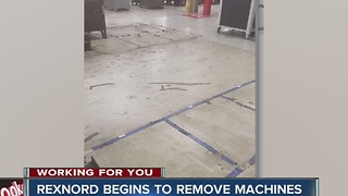 Rexnord begins to remove machines from plant