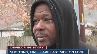 Shooting, fire leaves Indy's east side on edge - Video