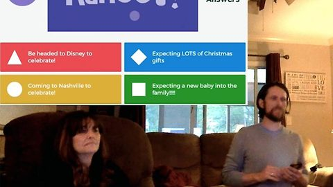 Couple personalise trivia game to reveal pregnancy to parents