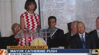 Catherine Pugh sworn in as Baltimore's 50th mayor - Video