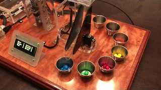 Clever Machine Sorts M&M's by Color - Video