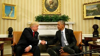 President-Elect Trump Meets With President Obama For The First Time - Video