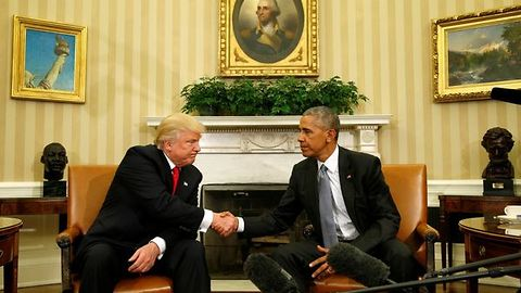 President-Elect Trump Meets With President Obama For The First Time