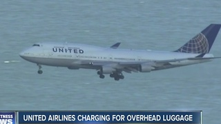United Airlines to start charging for overhead storage on new cheap fare - Video