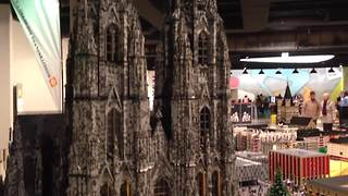 Incredibly detailed city centre built to scale with Legos - Video