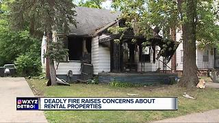Deadly fire raises concerns about rental properties - Video