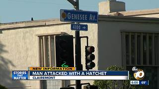 man attacked with hatchet - Video