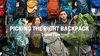 How to pick the right travel backpack - Video