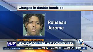2nd suspect charged in Greenacres double homicide