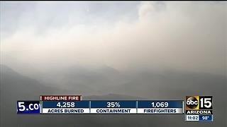 Highline fire causes evacuations - Video