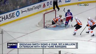 Rangers lock up former Red Wings defenseman Brendan Smith - Video