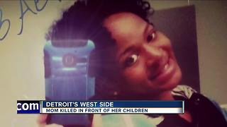 Detroit mom murdered in front of her children - Video