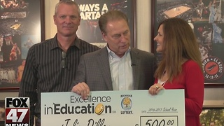 Plymouth educators wins award from Michigan Lottery - Video