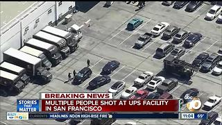 Shooting reported at San Francisco UPS facility - Video