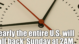 Daylight Saving Time is ending