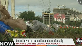 Mapping out the cleanup plan for the College National Championship Game - Video