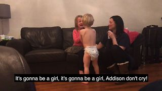 Little Boy Comforts Sister After Baby Announcement - Video