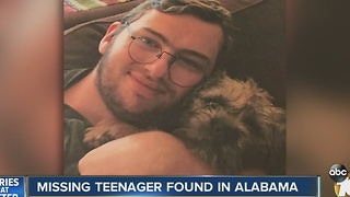 Missing teenager found in Alabama