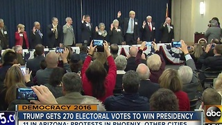 Arizona's electors officially select Donald Trump for the presidency - Video