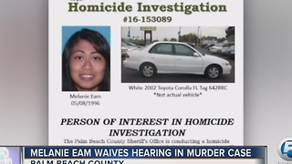 Melanie Eam waives hearing in murder case - Video