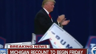 Michigan recount to begin Friday - Video
