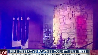 Fire Destroys Pawnee County Business - Video