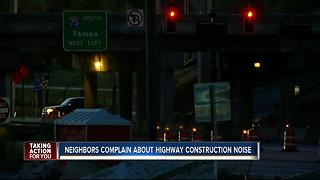 Neighbors complain about highway construction noise