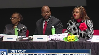 Elected school board back in charge of Detroit Public Schools - Video
