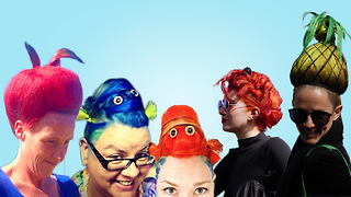 Hairdresser Creates Crazy Hairstyles For Charity: MAKING MAD - Video