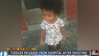 Tampa toddler shot discharged from hospital, family fear neighborhood - Video