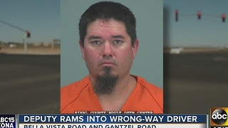 Pinal County deputy uses SUV to stop wrong-way driver - Video