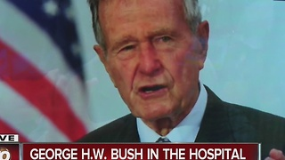 George H.W. Bush in the hospital - Video