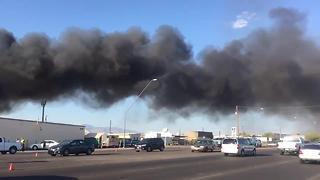 RAW VIDEO: Scrap yard fire - Video