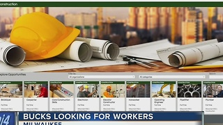 Bucks looking for workers - Video