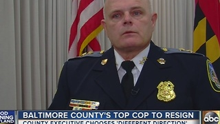 Baltimore County Police Chief to resign in January - Video
