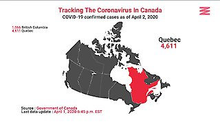 COVID 19 Confirmed Cases In Canada As Of April 2nd