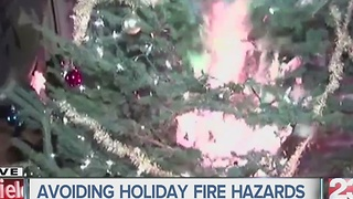 Avoid holiday fire hazards - Video