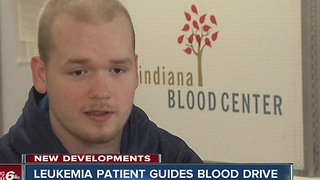 Leukemia patient guides blood drive - Video