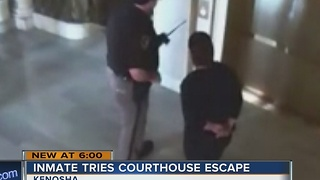 Woman tries to escape custody inside Kenosha County Courthouse - Video